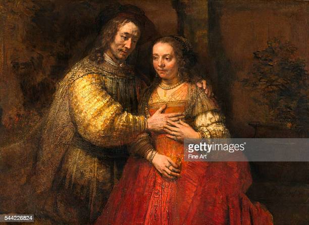 Portrait of a Couple as Figures from the Old Testament known as 'The Jewish Bride' ca 16651669 Oil on canvas 1665 x 1215 cm Rijksmuseum Amsterdam...