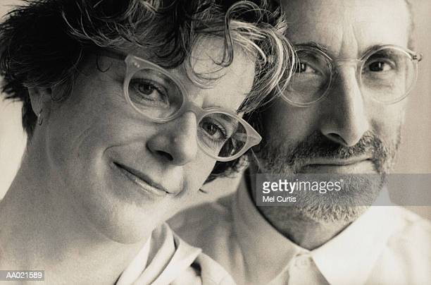 Portrait of a Couple in Their Adult 40s