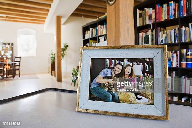 Portrait of a couple on a coffee table