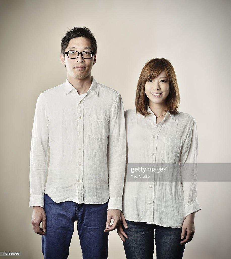 Portrait of a couple,Japan : Stock Photo