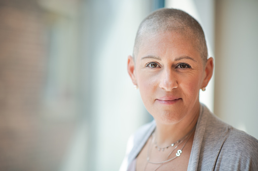 Portrait of a courageous woman with cancer 1167824519