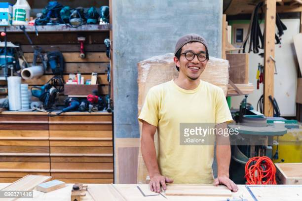 Portrait of a craftsman in his workshop