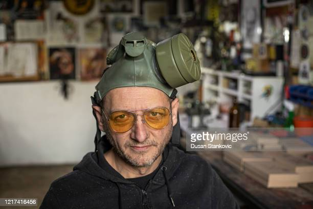 portrait of a craftsman in his workshop stock photo - dusan stankovic stock pictures, royalty-free photos & images