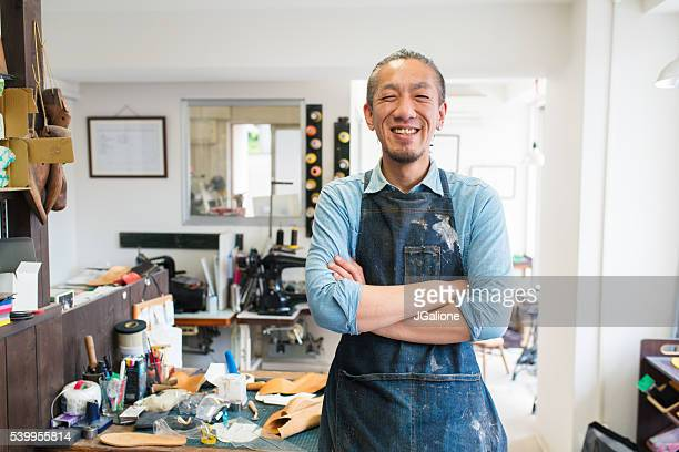 portrait of a craftsman - jgalione stock pictures, royalty-free photos & images