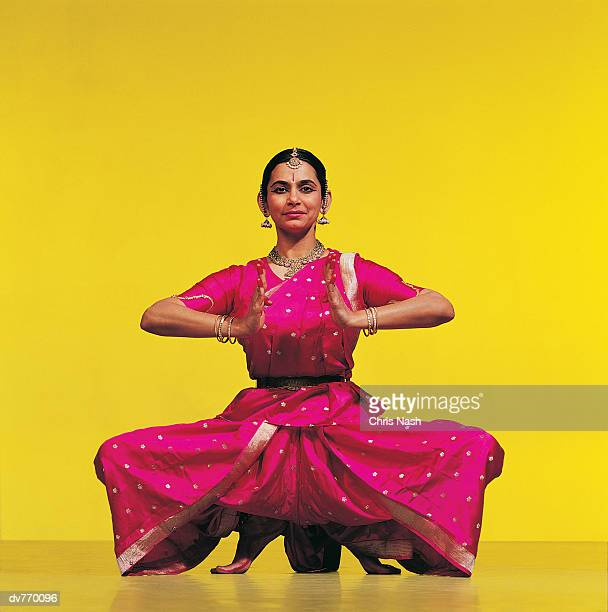 Portrait of a Crouching Indian Dancer