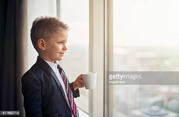 portrait of a cute little business man - childhood stock pictures, royalty-free photos & images
