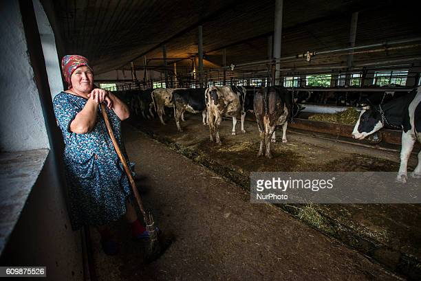 Portrait of a dairymaid working in Nikitin kolkhoz at Ivanovka village Azerbaijan Ivanovka is a village with mainly Russian population which...