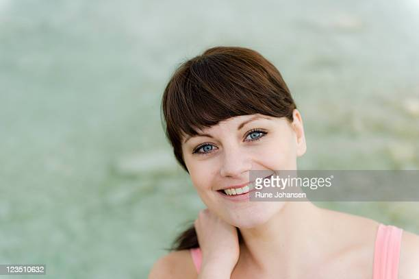 portrait of a danish woman, 26 years old, smiling - 25 29 years stock pictures, royalty-free photos & images
