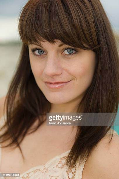 portrait of a danish woman, 26 years old, with blue eyes - 25 29 years stock pictures, royalty-free photos & images