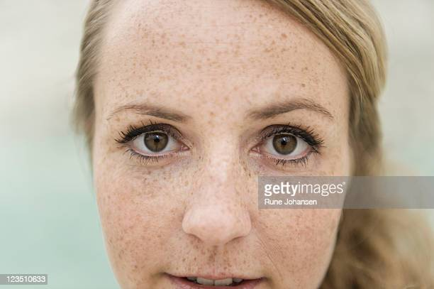 portrait of a danish woman, 28 years old, with hazel eyes - 25 29 years stock pictures, royalty-free photos & images