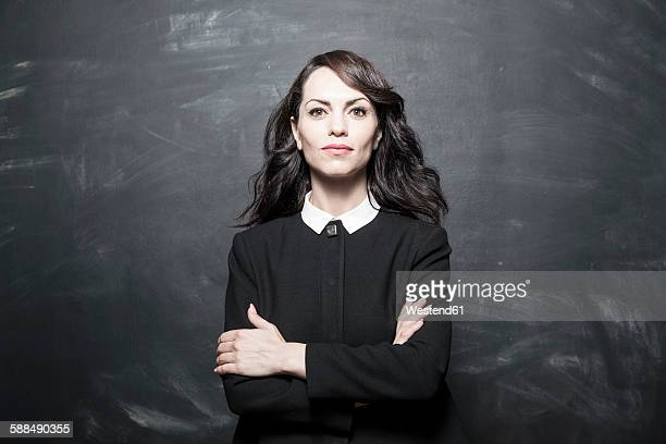 Portrait of a dark haired businesswoman