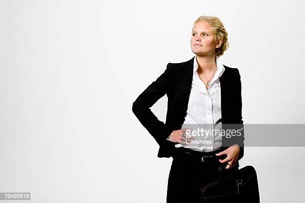 Portrait of a determined woman Stockholm Sweden.