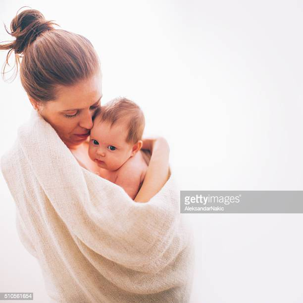 Portrait of a devoted mother