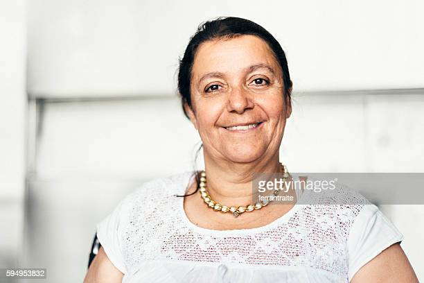 Portrait of a Disabled Mexican Woman