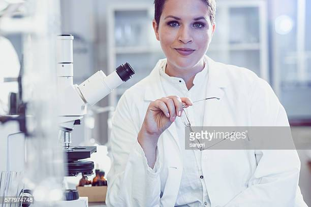 Portrait of a Doctor of Science by the Microscope