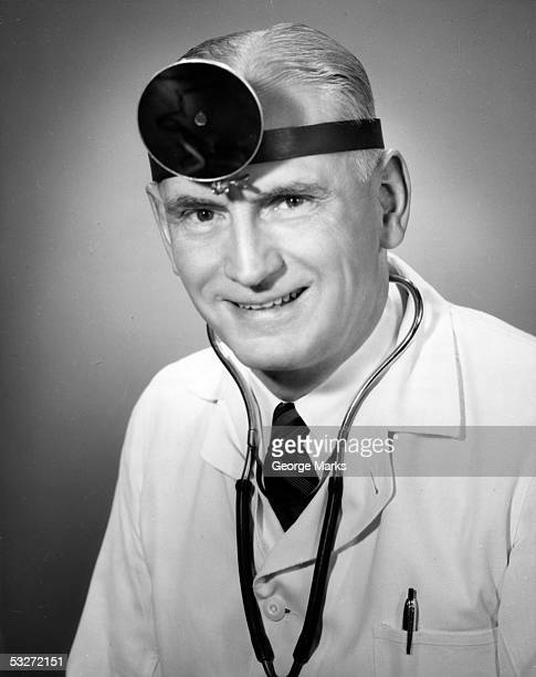 portrait of a doctor - 20th century stock pictures, royalty-free photos & images