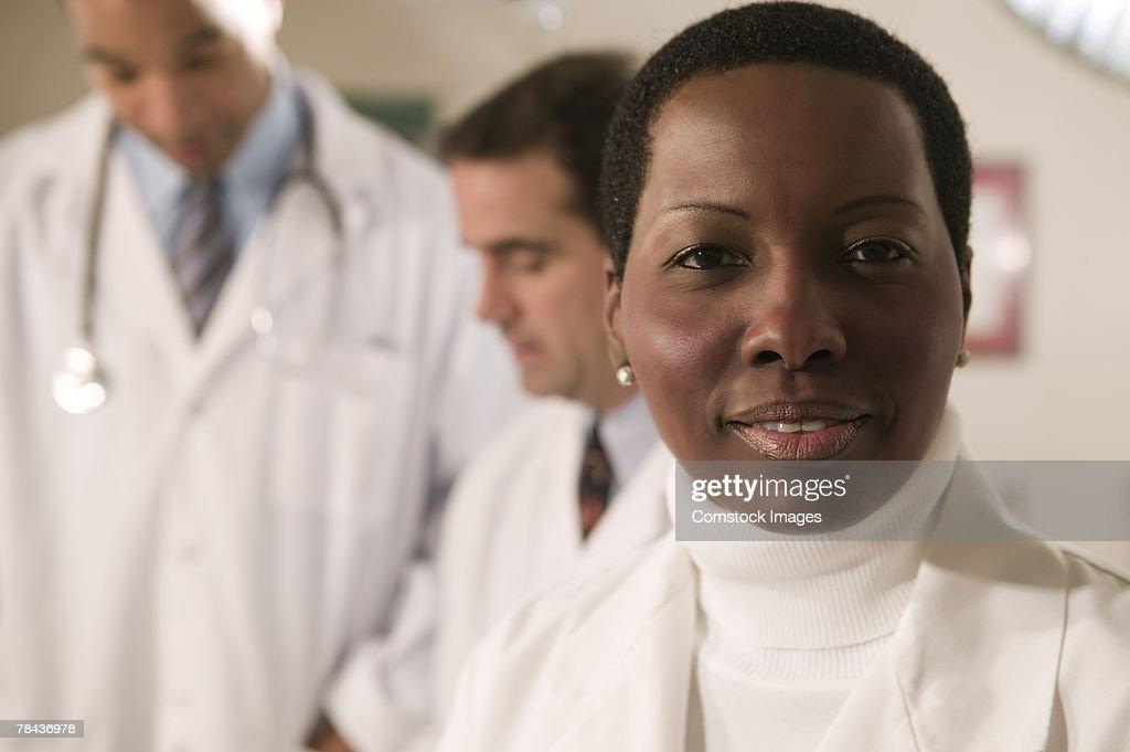 Portrait of a doctor : Foto de stock