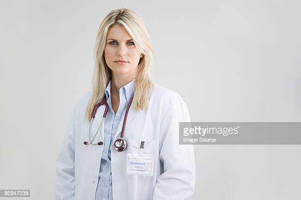 portrait of a doctor - name tag stock photos and pictures