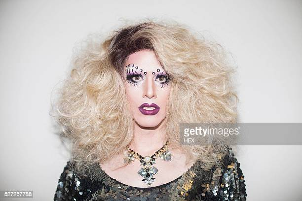portrait of a drag queen - transvestite stock photos and pictures