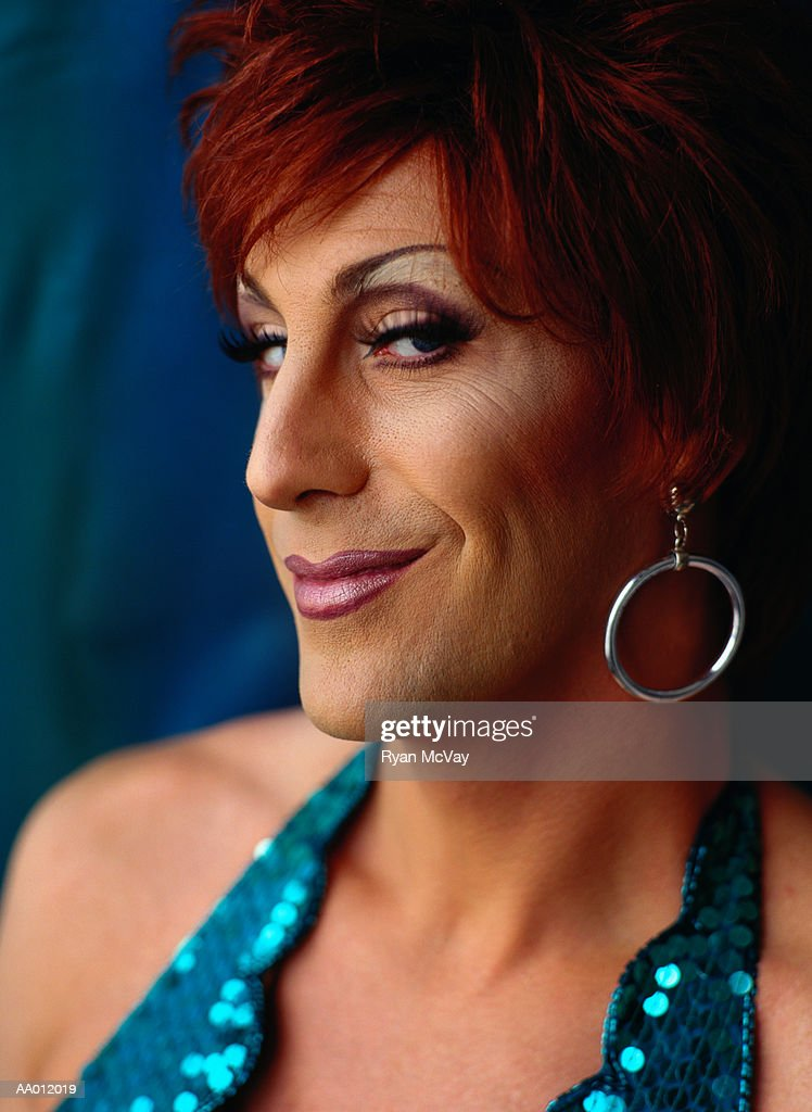Portrait of a Drag Queen : Stock Photo