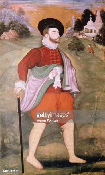 Portrait of a Dutch merchant India Moghul Late 16th century