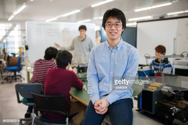 Portrait of a engineering student