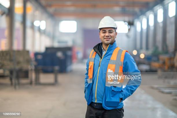 portrait of a factory engineer - turkey middle east stock pictures, royalty-free photos & images