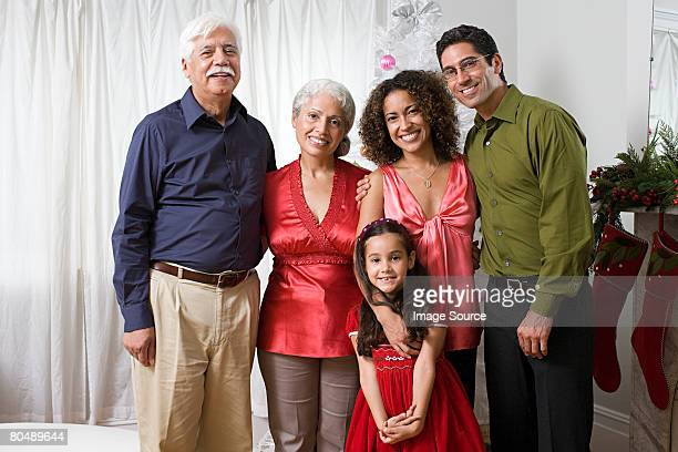 Portrait of a family at christmas
