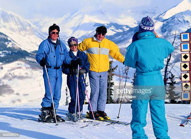 Portrait of a Family Cross-Country Skiing