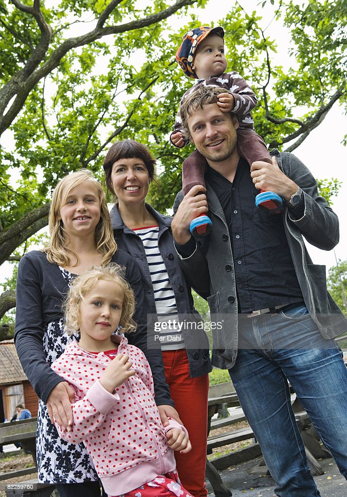 Portrait of a family Sweden. : Stock Photo