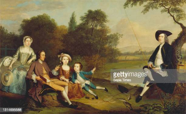 Portrait of a Family, Traditionally Known as the Swaine Family of Fencroft, Cambridgeshire, Arthur Devis, 1712–1787, British Oil on canvas, Support :...