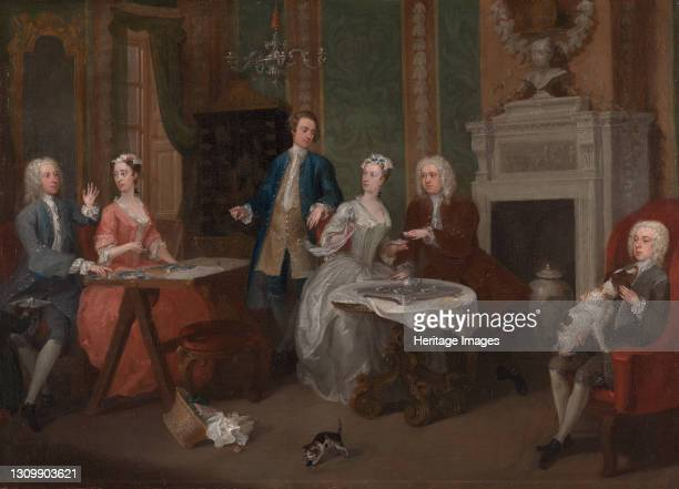 Portrait of a Family;A Family Party;Family Party, ca. 1735. Artist William Hogarth. .