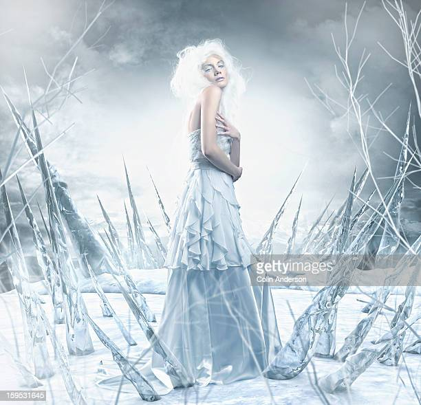 Portrait of a fantasy Ice Princess
