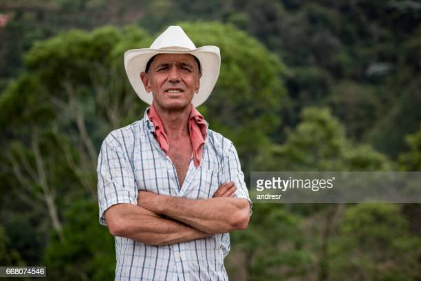 Portrait of a farmer at a coffee farm