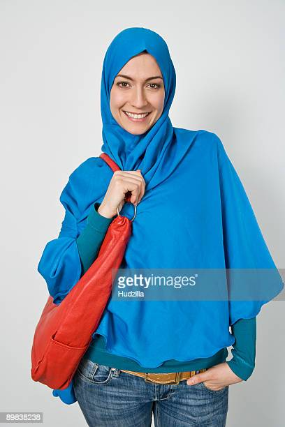 Portrait of a fashionable woman wearing a Hijab