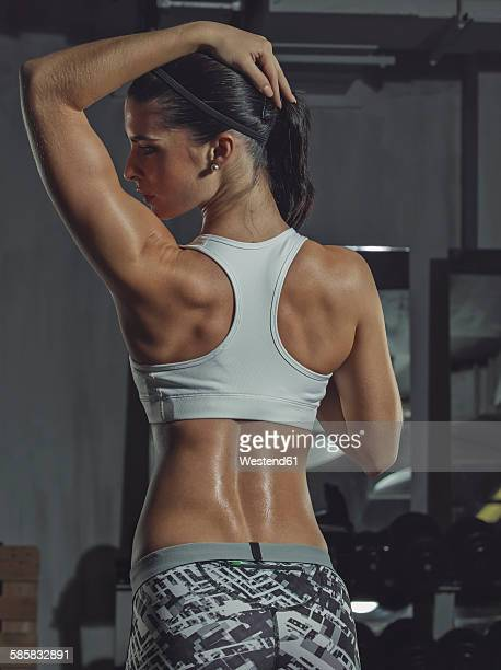 Portrait of a female athlete in gym