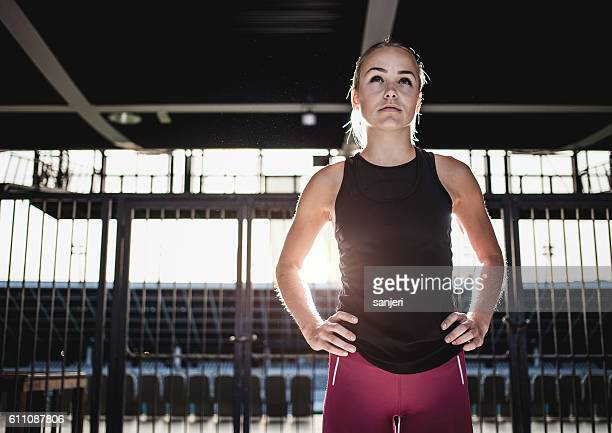 Portrait of a Female Athlete
