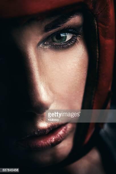 Portrait of a female boxer