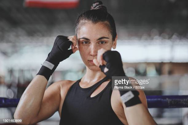 portrait of a female boxer,chiang mai,thailand - images stock pictures, royalty-free photos & images