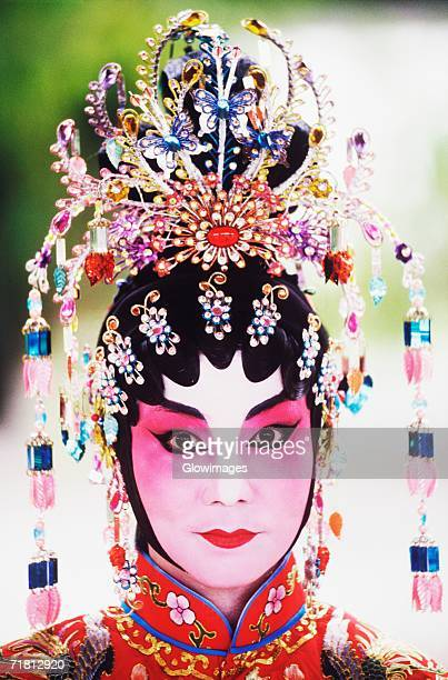 Portrait of a female Chinese opera performer, Singapore