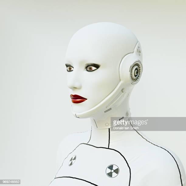 Portrait of a female cyborg