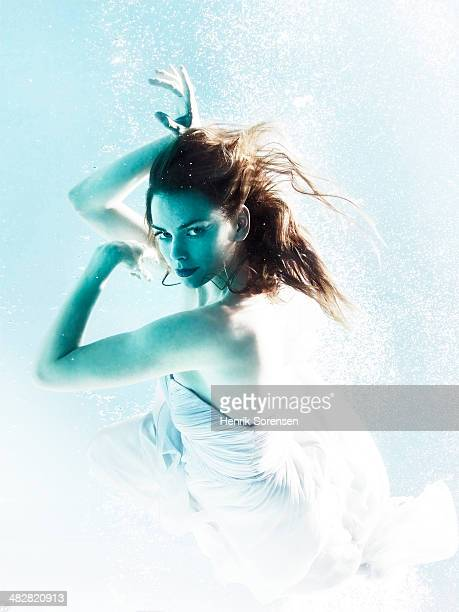 Portrait of a female dancer under water