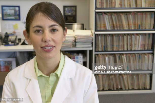 Portrait of a female doctor standing in her office