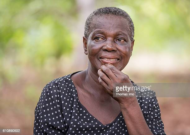 Portrait of a female farmer on her cashew farm in Congo on September 06 2016 in Congo Ghana