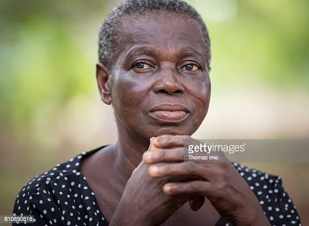Portrait of a female farmer on her cashew farm in Congo on September 06 2016 in Congo Ghana