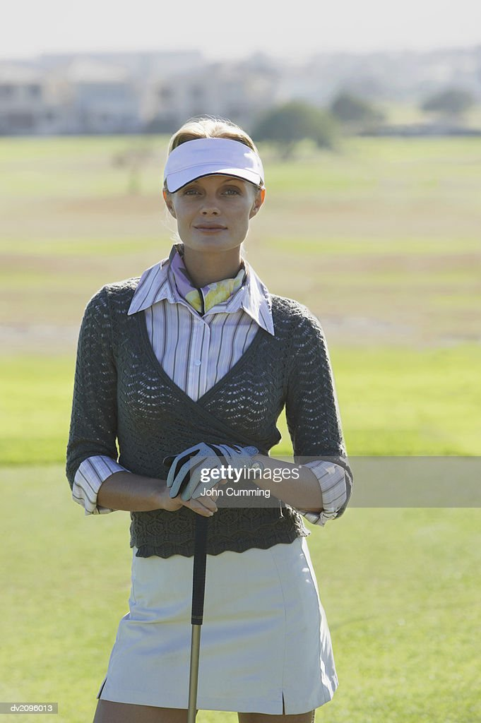 Portrait of a Female Golf Player : Stock Photo