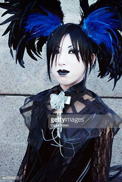 Portrait of a Female Goth, Harajuku, Tokyo, Japan