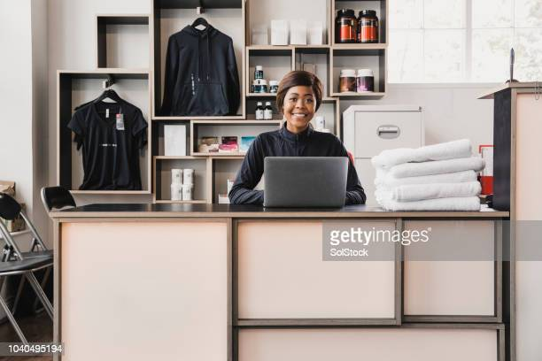 Portrait of a Female Gym Receptionist