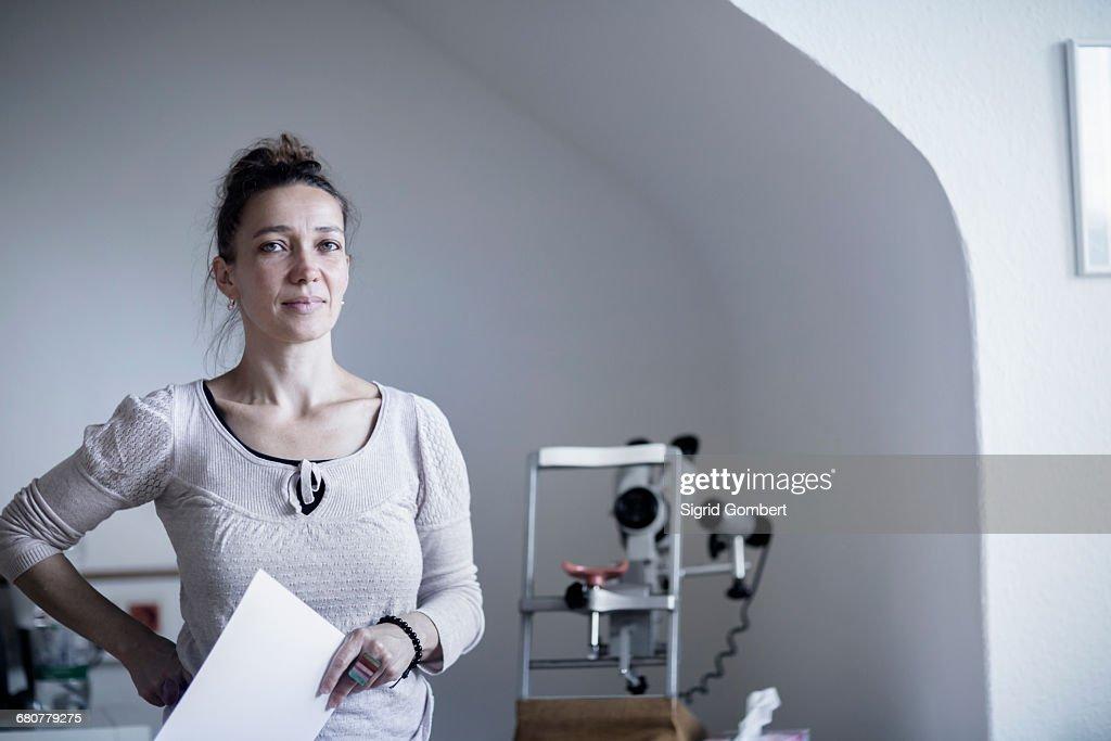 Portrait Of A Female Healer Holding The Index Card Freiburg Im