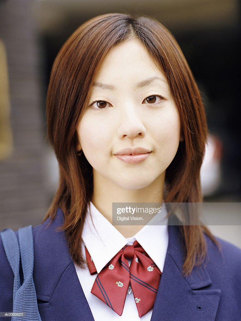 Portrait of a Female High School Student : Stock Photo